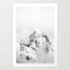 Gspaltenhorn (black and white) Art Print
