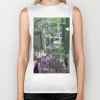 houston Biker Tanks featuring Downtown Houston by TheBigBear