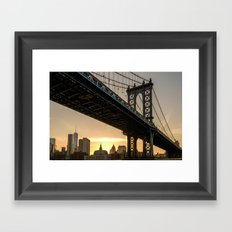 Manhattan Bridge, NYC Framed Art Print