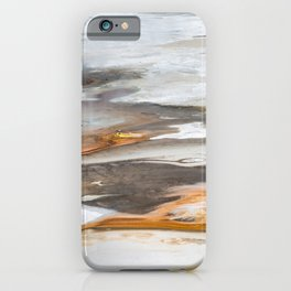 Yellowstone National Park - Thermophiles, Norris Geyser Basin, aerial view iPhone Case