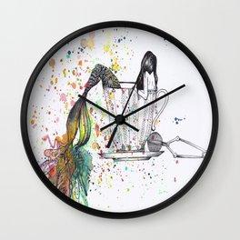 Mermaid Tea Wall Clock