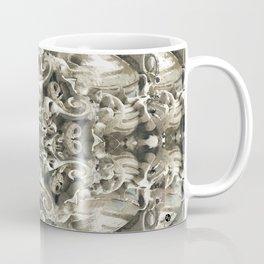Sculpted Flower Frieze Coffee Mug