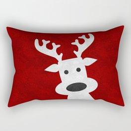 Christmas reindeer red marble Rectangular Pillow