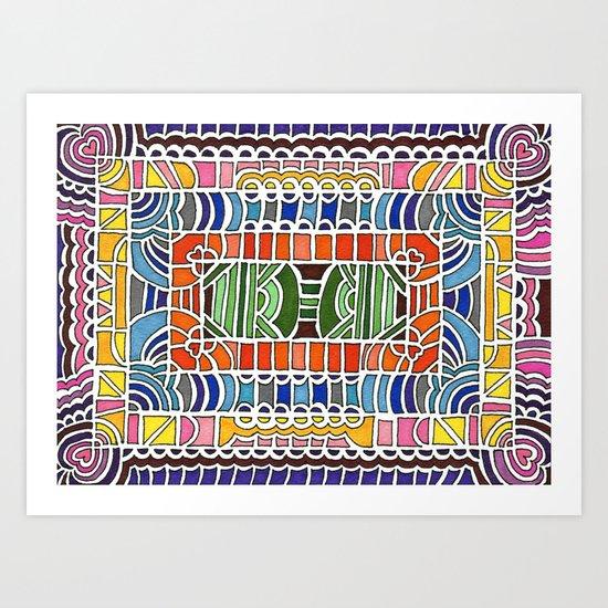 Geometric Drawing Meditation Art Print