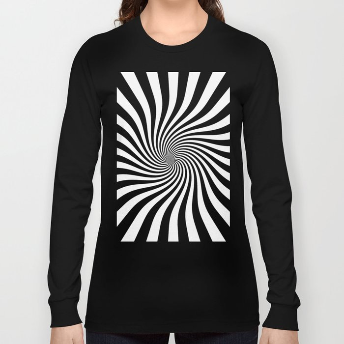 Swirl (Black/White) Long Sleeve T-shirt