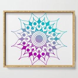 Mandala #2 (Purple Pink Turquiose) Serving Tray