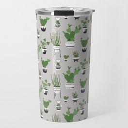 Cactus Love (in gray) Travel Mug