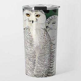 Snowy Owls Travel Mug