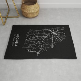 Georgia State Road Map Rug