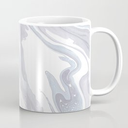 Navy Marble Waves Coffee Mug