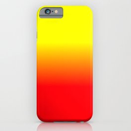 Neon Red and Neon Yellow Ombré  Shade Color Fade iPhone Case