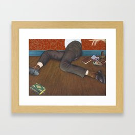 OK, God, over and out Framed Art Print