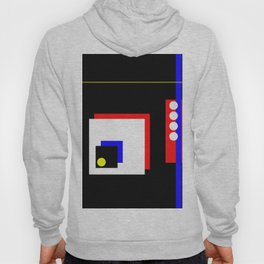 Traffic Jam - Abstract, minimalist, geometric, artwork in primary colours and black and white Hoody