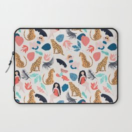 Tropical girls and Cheetah Laptop Sleeve