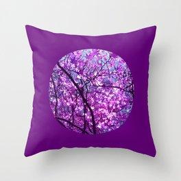 purple tree XXXIII Throw Pillow