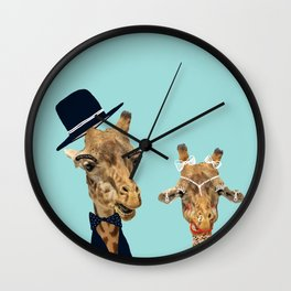 Funny Bride and Groom Wall Clock
