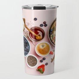 Heart made with Healthy breakfast set Travel Mug