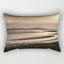 Loughor estuary mudbanks Rectangular Pillow
