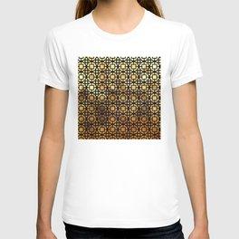 Luxurious Gold-Bronze Islamic Geometric Pattern T-shirt