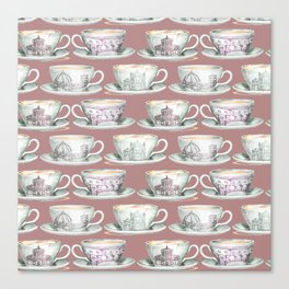 Florence coffee cup print Canvas Print