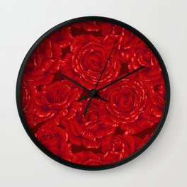 Red roses for Valentine Wall Clock