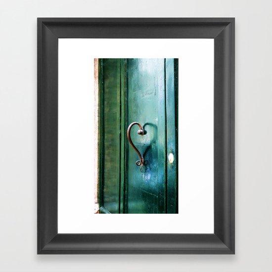 Handle on Love Framed Art Print