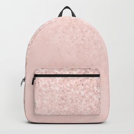 She Sparkles Rose Gold Pastel Light Pink Luxe Backpack