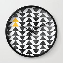 Triangle - Yellow II Wall Clock