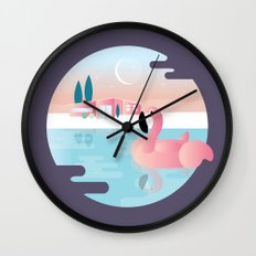 Pool Party Wall Clock