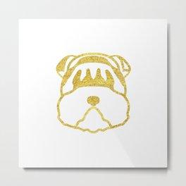 Gold Dog Card Metal Print