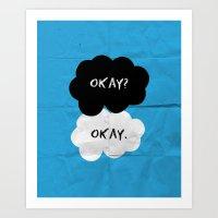 okay Art Prints featuring Okay by D-fens