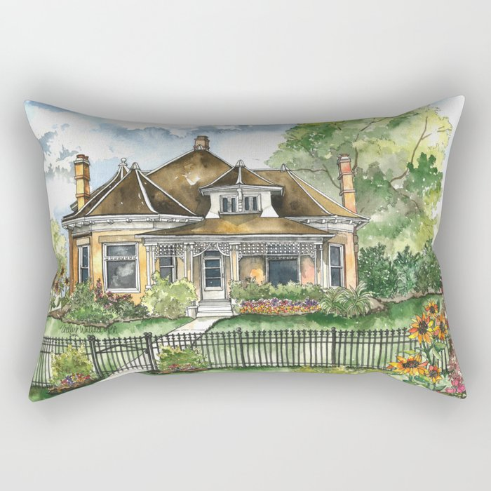 The House on Spring Lane Rectangular Pillow