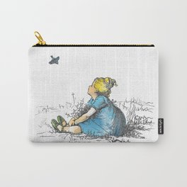 A Plump Little Girl and a Thin Little Bird Carry-All Pouch