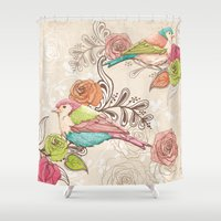country Shower Curtains featuring Country Garden by Amanda Dilworth