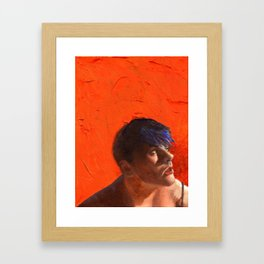 Stormy, Fine Art Oil Painting Portrait Print Framed Art Print
