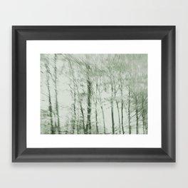 Windy woods (green) Framed Art Print
