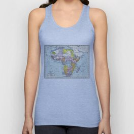 Vintage Map of Africa (1897) Unisex Tank Top