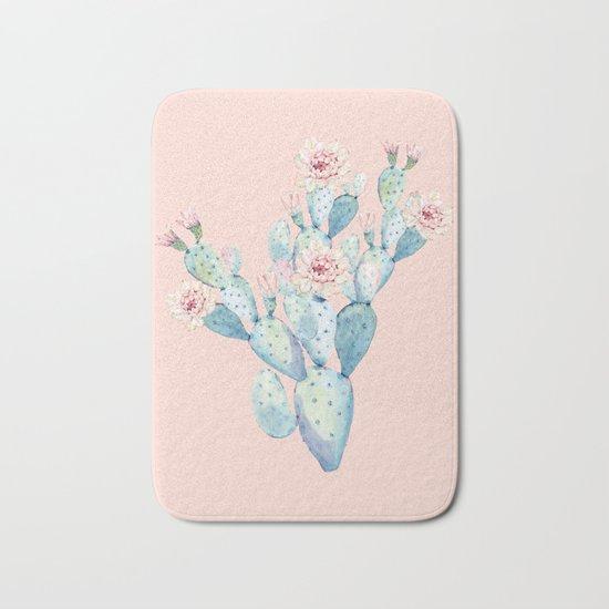 Rose Desert Cactus on Pink by Nature Magick Bath Mat