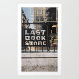 The Last Book Store Art Print