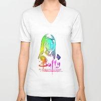 buffy V-neck T-shirts featuring Buffy Multicoloured by Paul Elder