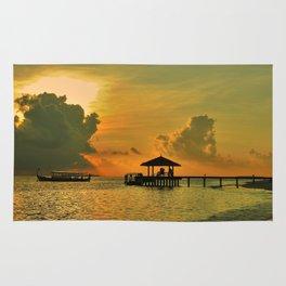 Maldives sunrise Rug