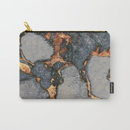 GREY & GOLD GEMSTONE Carry-All Pouch