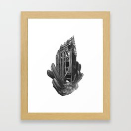 Obsidian House Framed Art Print