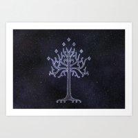 The White Tree Art Print