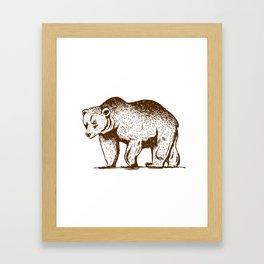 Wildlife Brown Bear Animal Art For Nature Lovers Framed Art Print