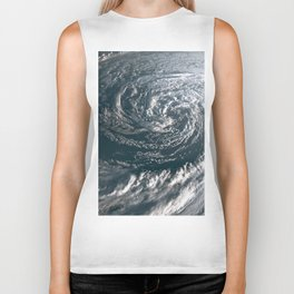 Hurricane on Earth viewed from space. Typhoon over planet Earth. Biker Tank