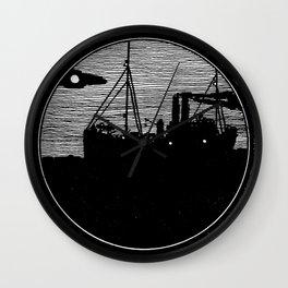 Silent boat. Wall Clock