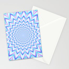 Crinkle Cut Pulse in Pale Blue and Pink Stationery Cards