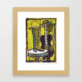 """""""She Danced right out of Her Shoe"""" Framed Art Print"""