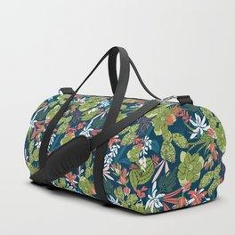 Succulent Garden Navy Duffle Bag